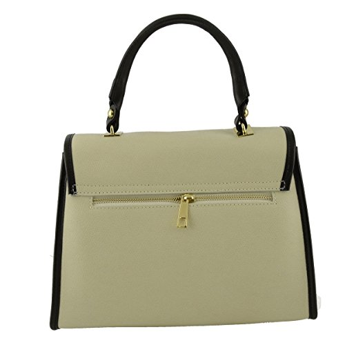 Bauletto Donna In Vera Pelle Colore Beige - Pelletteria Toscana Made In Italy - Borsa Donna