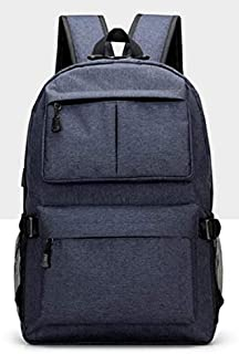 QWKZH Sacs à Dos USB Unisex Design Backpack Book Bags for School Backpack Casual Rucksack Daypack Oxford Canvas Laptop Fashion Man Backpacks