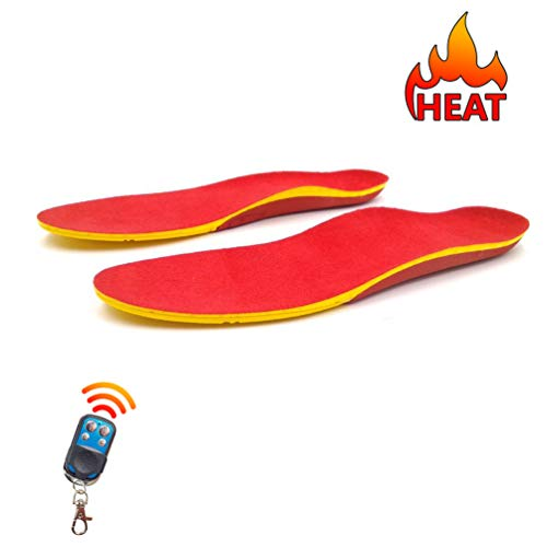 Rechargeable Heated Insoles with Remote Control Winter Hunting Boots Shoes Sneaker Ice Fishing Hiking Camping