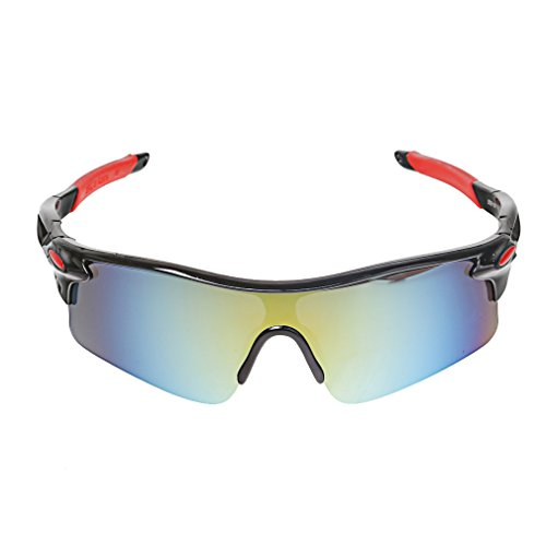 A-szcxtop Dazzle Colour Reflective Fashion Outdoor Sports Cycling Bicycle Fishing Driving Sunglasses 100% UV protection Eyewear Glasses for Men and Women