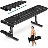 Sportstech Innovative 18in1 Weight Bench with Carrying Handle, BRT100 Flat Bench, Unique Design, Eva Padding Material, Folding Fitness Bench, Intelligent Folding System, Abs Trainer, Anti-slip Feet