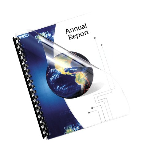 Pre Punched Binding Covers - Fellowes Binding Presentation Covers, Pre-Punched, Oversize Letter, Clear, 100 Pack (5293401)