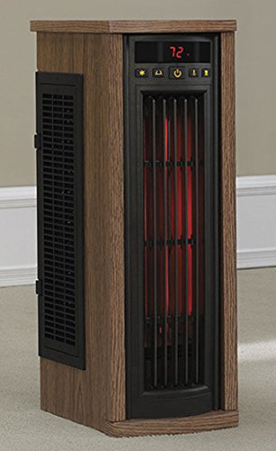 Duraflame 5HM7000-PO78 Portable Electric Infrared Quartz Oscillating Tower Heater, Oak by Duraflame