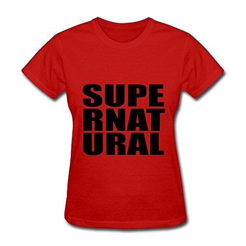 NASY Women's Supper Natural Cotton Short Sleeve T Shirt XL Red