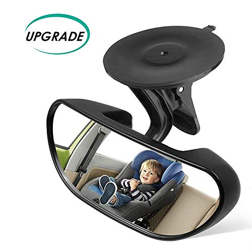 (Rearview Mirror Baby Mirror for Car Rear View Mirror Backseat Mirror for Infant Toddler Child with 360 Degree Adjustable Strengthen Suction Cup)