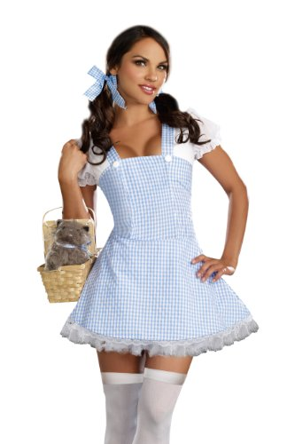 Dreamgirl Gingham Dress, Light Blue, X-Large