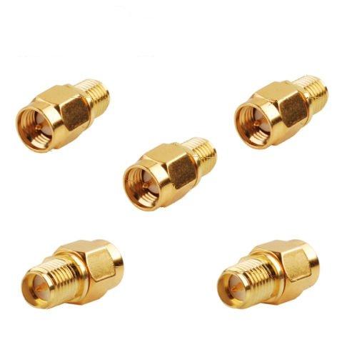 5x RP-SMA Jack Male to SMA Plug Male RF Coax Connector Adapt