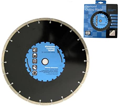 9 AND 12 DIAMOND CUTTING ANGLE GRINDER BLADE DISC HIGH QUALITY BLACK 9