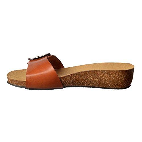 Flip Leather Sandal Tan Flop Women's Chloe Sweet Full ZUxqItga