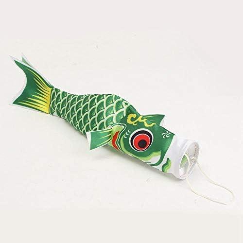 インテリアギフトをぶら下げホームのための日本のスタイルこいのぼり鯉風ソックスこいのぼり魚防水国旗カイトマスコット工芸品 GBYGDQ (Color : Green)