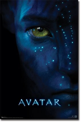 amazon com avatar movie face poster print home kitchen
