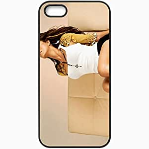 Personalized iPhone 5 5S Cell phone Case/Cover Skin Alicia Machado Black by lolosakes