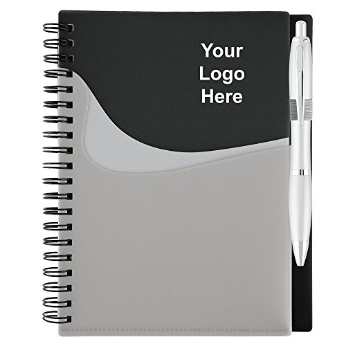 New Wave Pocket Buddy Spiral Bound Notebook - 50 Quantity - $3.85 Each - Promotional Product/Bulk/Branded with Your Logo/Customized.