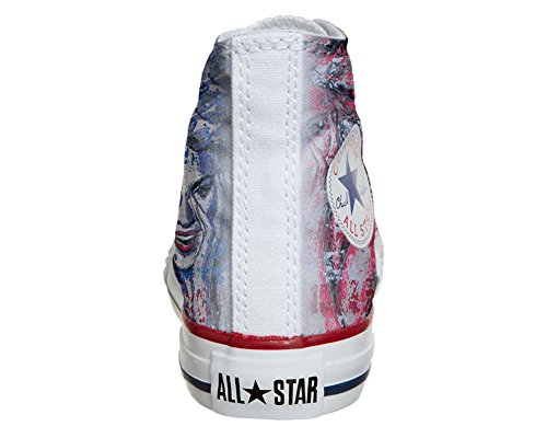 Converse Customized Adulte - chaussures coutume (produit artisanal) yeux Converse