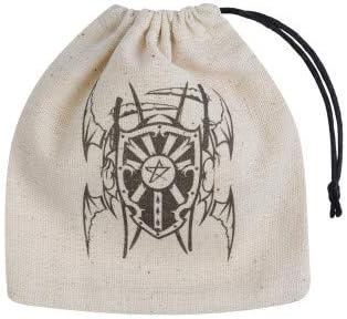Q Workshop Vampire Beige & Black Basic Dice Bag