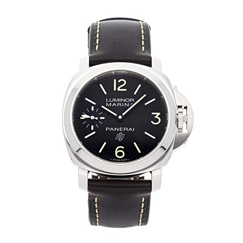 Panerai Luminor Mechanical (Hand-Winding) Black Dial Mens Watch PAM 776 (Certified Pre-Owned)