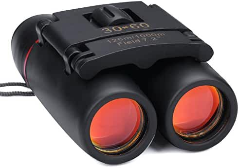 Kimfoxes Binoculars Super Clear Waterproof Zoom Compact 30x60 HD Telescope for Bird Watching, Hunting, Camping, Sports Events and Other Outdoor Activities