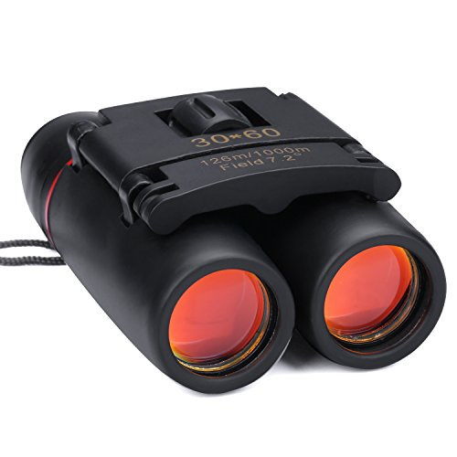 Kimfoxes Binoculars Compact Waterproof Sports Zoom 30X60 Telescope Binocular for Bird Watching, Camping, Sports Events and Other Outdoor Activities