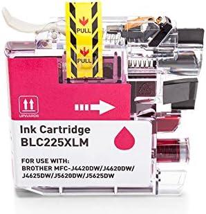 printyo® Cartucho d tinta lc-225 m Magenta Compatible para ...