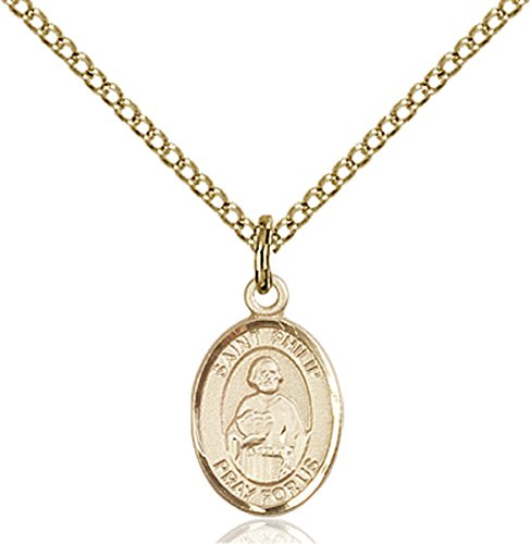 Philip Neri Pendant - VERY SMALL CHILDRENS JEWELRY / 14kt Gold Filled St. Philip Neri Pendant / Gold Filled Lite Curb Chain / Hatters/Pastry Chefs