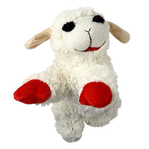 Multipet-INTERNATIONAL-843140-Lambchop-Plush-Squeak-Toy-Mini-for-Pets-6-Inch