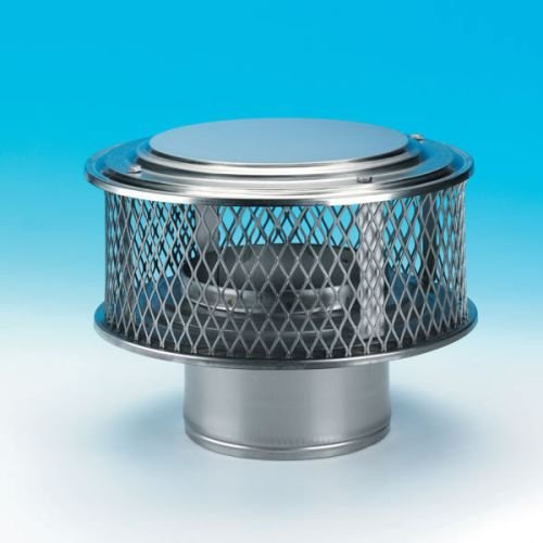 Chimney 13880 6 Inch HomeSaver Guardian Cap 304-alloy 5/8 Inch Mesh by Copperfield Chimney Supply
