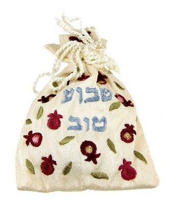 Embroidered Havdalah Besamim Spice Bag and Cloves - Shavua Tov - by Yair Emanuel