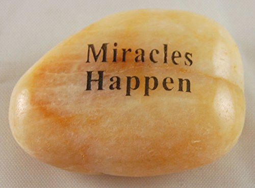 Miracles Happen Engraved River Rocks Word Stones Sold Individually