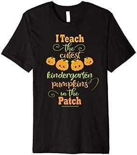 Halloween Cutest Pumpkins Funny Kindergarten Teacher Gift Premium T-shirt | Size S - 5XL