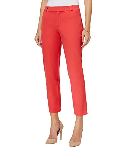 Charter Club Womens Straight Leg Casual Trousers Pink 14x25 from Charter Club