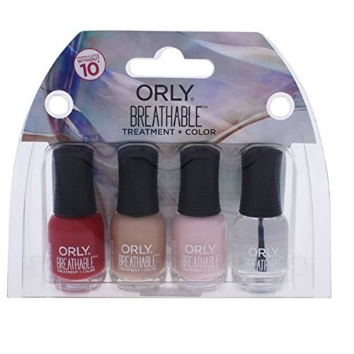 Orly Breathable TreatMent + Color for WoMen, 4 Piece Mini Kit