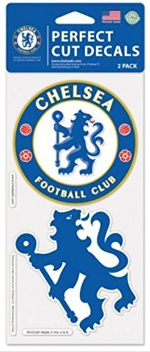 (OFFICIAL CHELSEA FC PERFECT CUT DECAL SET OF TWO 4