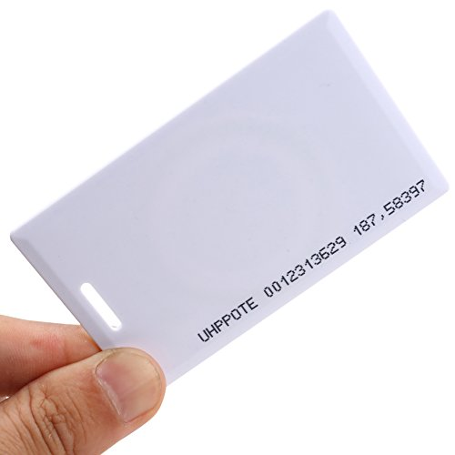Read only, Pack of 100 UHPPOTE Contactless 125kHz RFID Proximity Smart Card 0.8mm thick for Access Control System /& Time Attandance