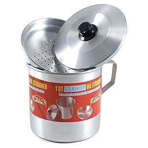"""Bene Casa Oil Strainer 5.3"""" X 5.6"""" X 5.3"""" Aluminum"""