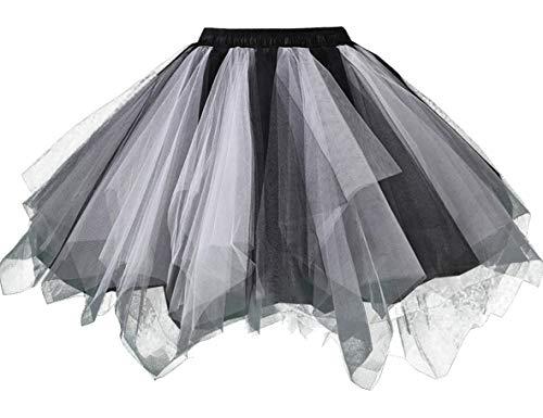 Losait Women Gauze Halloween Party High Waisted Rockabilly Short Skirt 10 XL ()