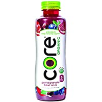 Deals on Pack of 12 CORE Organic, Pomegranate Blue Acai, 18 Fl Oz