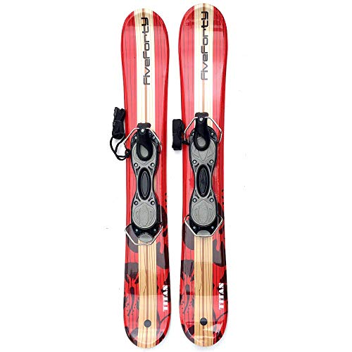 (Snowjam Five Forty Titan 90cm Skiboards Snowblades with ski boot bindings 2018)