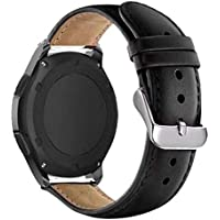 Pulseira De Couro Samsung Gear S2 Classic/Galaxy Watch 42mm / Gear Sport R600 / Vivoactive 3 Music - Preta