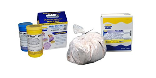Smooth-On - Alja Safe Alginate 3lb Box & Mold Star Silicone Platinum-Cure Series Mold Making Rubber Trial Unit (1 Pint A & 1 Pint B)