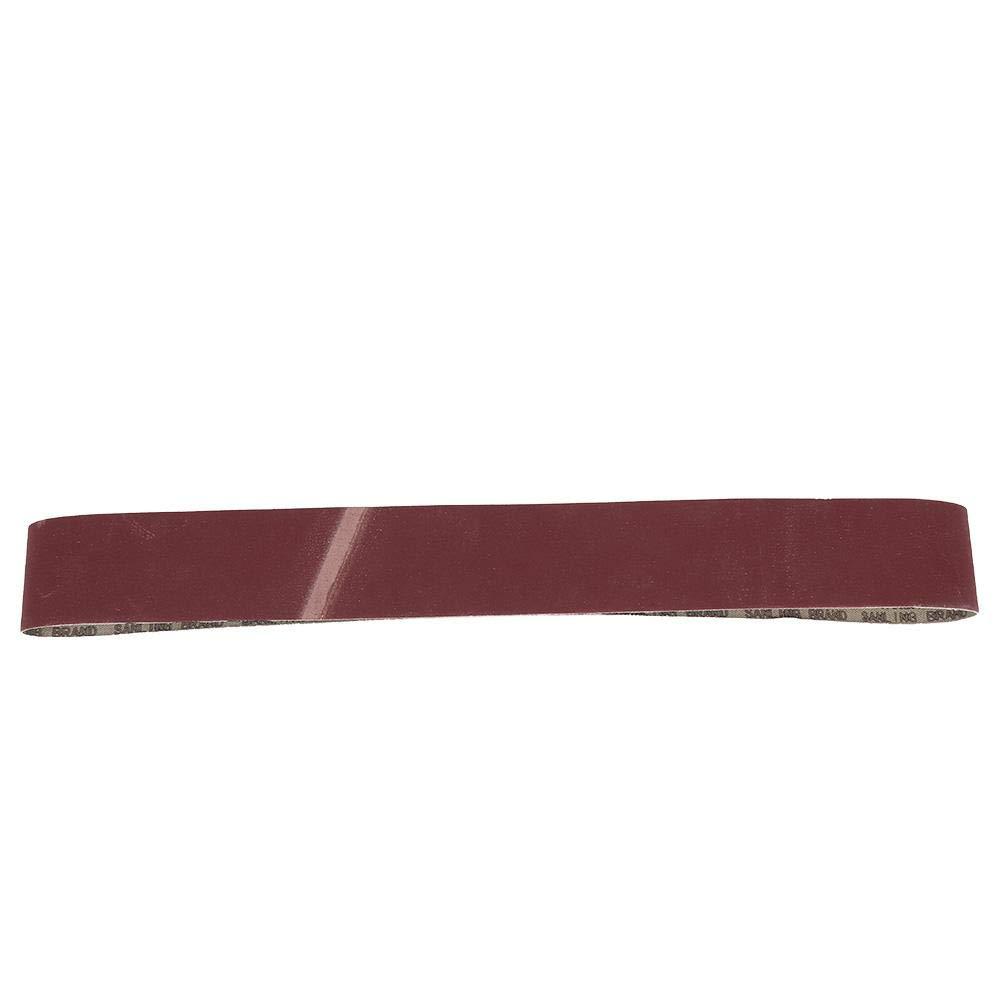 grains 320//400//600 600# Bande abrasive 915x50 mm bande abrasive pour le meulage et le polissage de mat/ériel de meubles en bois kit dassortiment de bandes abrasives en alumine 10 pi/èces