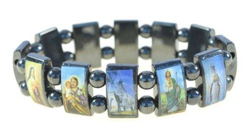 Religious Magnetic Hematite Elastic Bracelet product image