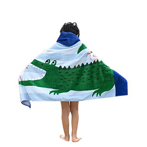 Children's Beach, Bath & Swimming Towel Vibrant Crocodile Pa