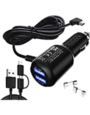 Car Charger for Garmin Nuvi,Garmin car Charger,Garmin nuvi car Charger,Garmin GPS Charger Cable,Mini USB Power Cord Cable Dual Port USB Vehicle Power Charging Cable