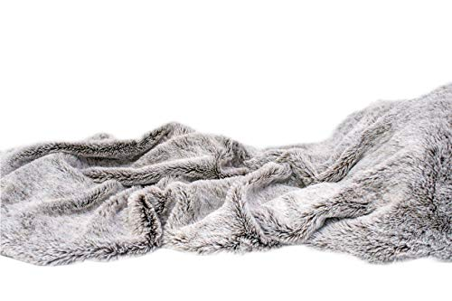 Christies Home Living Top Listing ! Super Luxury Faux Fur Blanket Cozy Fuzzy Waivy Throw, ()