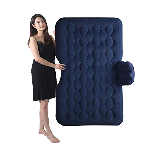 Car Inflatable Mattress, Travel Bed Camping Inflatable Sofa Automotive Air Mattress Rear Seat Rest Cushion Rest Sleeping Pad with Pump Accessories CIM0909 (Color : C) by ZCY-Auto Mattress