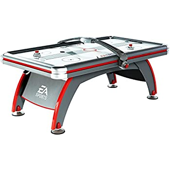 Amazon viper vancouver 75 foot air hockey game table air ea sports air hockey game table 84 inch indoor arcade gaming set with electronic overhead score system sound effects cup holders pucks and paddles greentooth