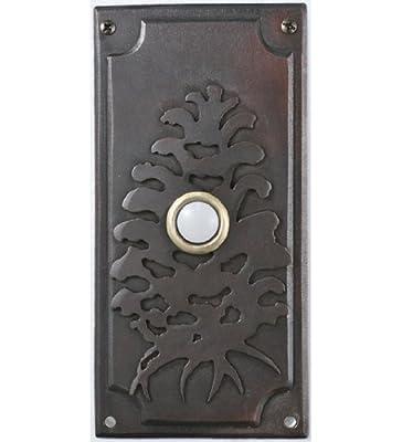 """Meyda Lighting 79966 3""""W X 6""""H Spruce Pine Door Bell Cover"""