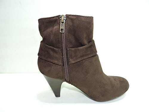 ankle Taylor heels West Fashion Suede Faux Brown boot 3