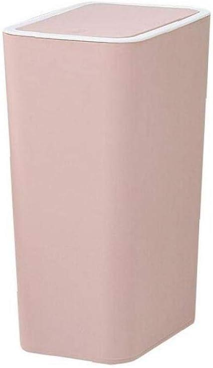 Rosa Zonfer Botes De Basura 1pc Papelera De Reciclaje del Rect/ángulo De Cubo De Basura con La Basura De Prensa De La Cubierta De La Sala Cubo De La Basura