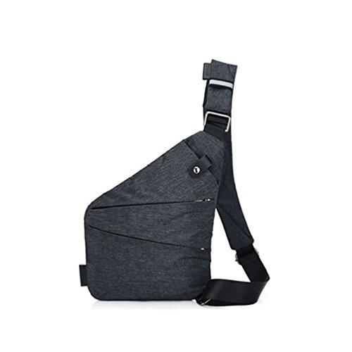 Chest Bag,Starlit Multi-pockets Anti-theft Shoulder Pack Cross Body for Men size Right Strap